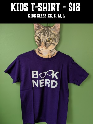 Book Nerd Kids T-Shirt - $18